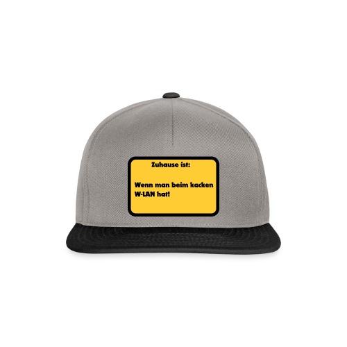W-LAN Spruch für Zuhause - Snapback Cap