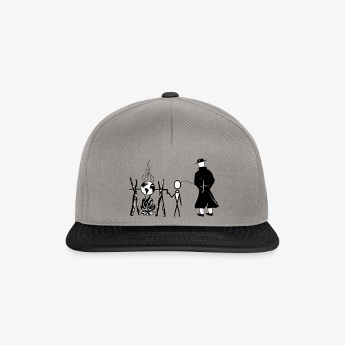 Pissing Man against human self-destruction - Snapback Cap