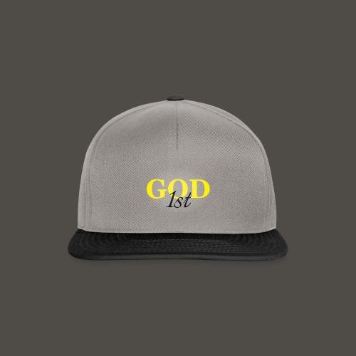 God 1st V09 D191029FMi Schriftzug schwarz - Snapback Cap