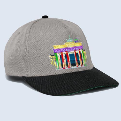 """Berlin """"Brandenburger Tor"""" PopArt Design - Snapback Cap"""