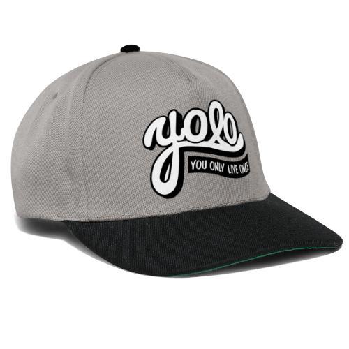 yolo je leeft maar een keer - Snapback cap