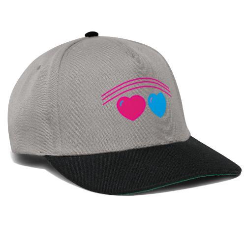 Das Design mit Herz - Snapback Cap