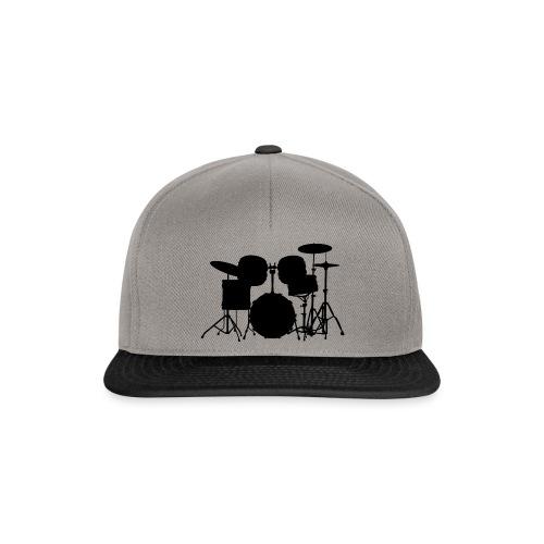 Drumset 1 Kontur schwarz - Snapback Cap