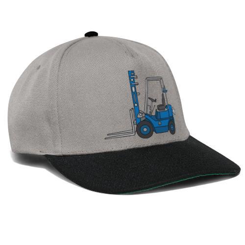 Blauer Gabelstapeler - Snapback Cap