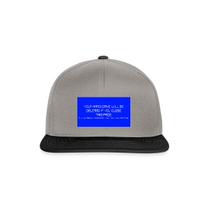Hard Drive Deleted Notice - Snapback Cap