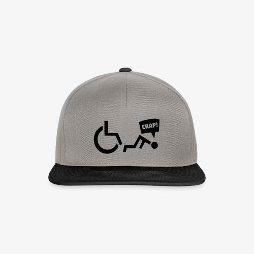 > Soms heb je pech en val je uit je rolstoel - Snapback cap