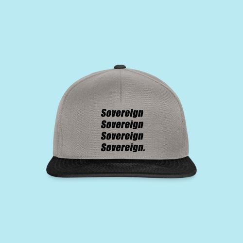 Sovereign Black Repeat - Snapback Cap