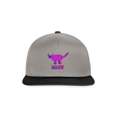 miaauw, paarse poes - Snapback cap