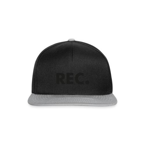 Rec zwart - Snapback cap
