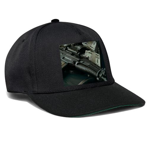 money and gun - Snapback Cap