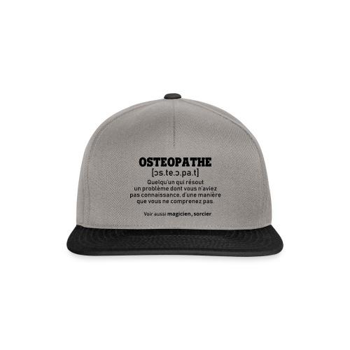 Définition OSTEOPATHE - Casquette snapback