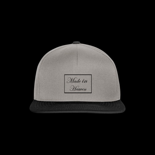 Made in Heaven Logo ,Black on white - Snapback Cap