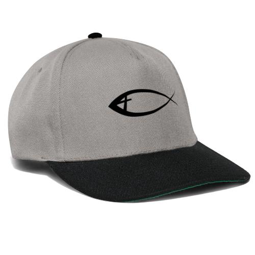 Jesus fisk - Snapback Cap