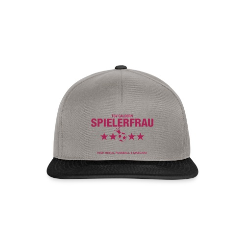 Spielerfrau High Heels, Fussball und Mascara - Snapback Cap
