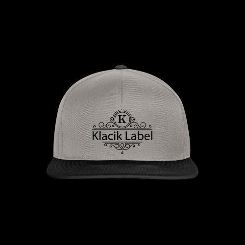 Klacik Label Black Logo Edition - Casquette snapback