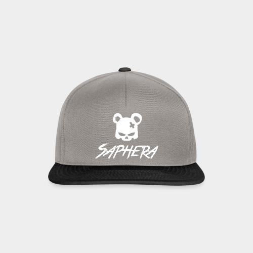 SAPHERA LOGO WHITE TRANS - Snapback cap