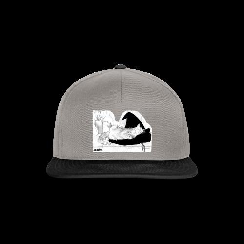 Tyrrin Hexenkater auf Hut (grau) - Snapback Cap