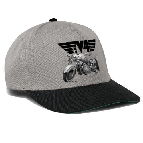 V4 Motorcycles black Wings - Snapback Cap