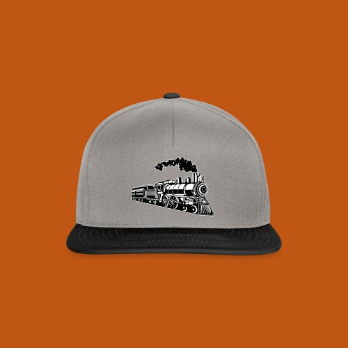 Lokomotive / Locomotive 02_schwarz weiß - Snapback Cap