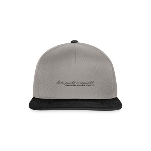 Possible et impossible - Casquette snapback