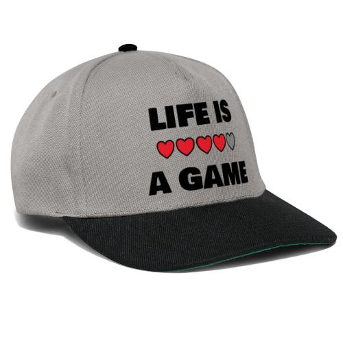 life is a game, black print - Snapbackkeps