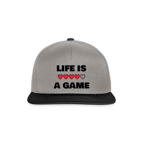 life is a game, black print - Snapbackkeps