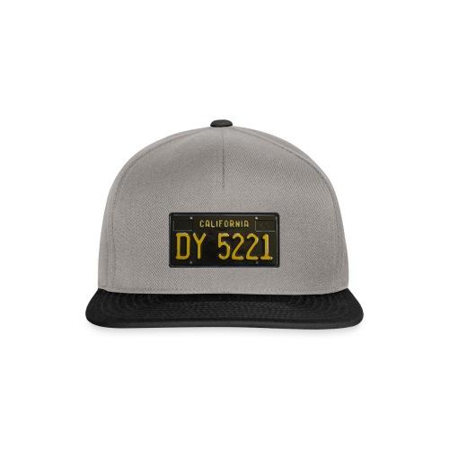 CALIFORNIA BLACK LICENCE PLATE - Snapback Cap