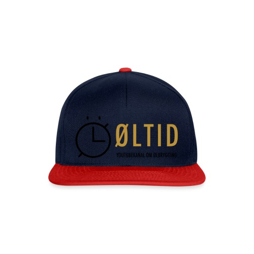 øltid side svart lille - Snapback-caps