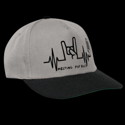 Logo noir Melting Pop Rock - Casquette snapback