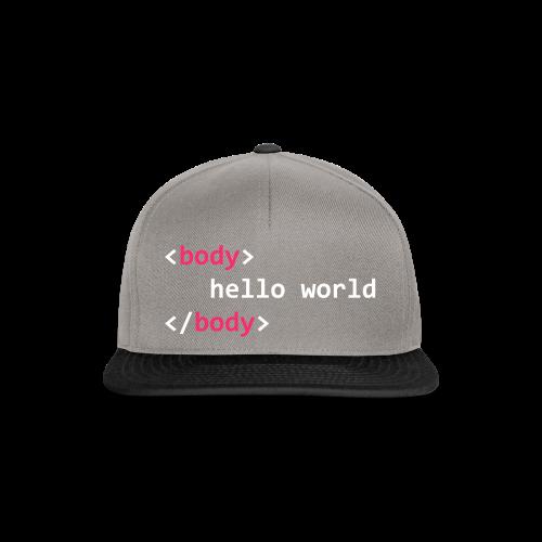 hello-world-png - Snapback Cap