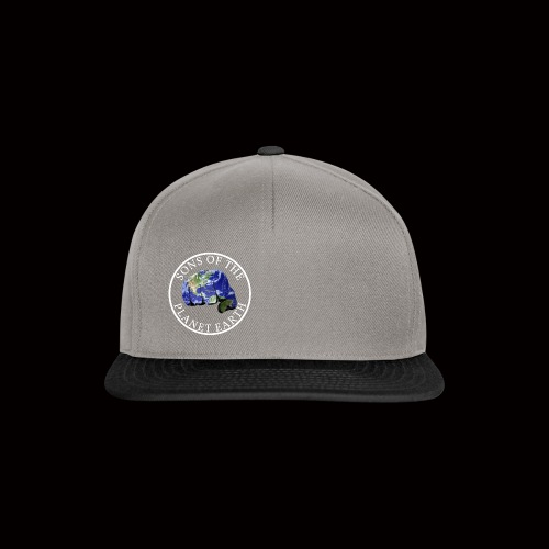 SONS OF THE PLANET EARTH white text no backround - Snapback Cap