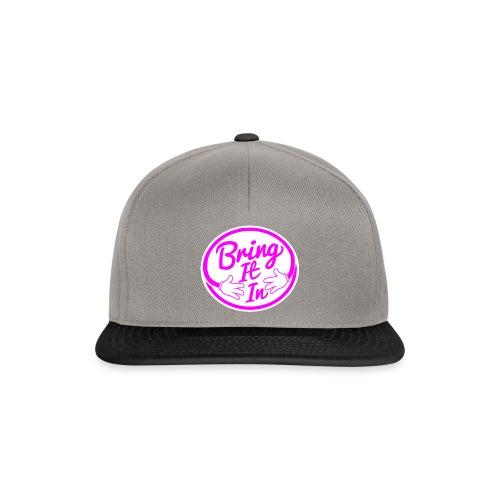 BII Pink font png - Snapback Cap