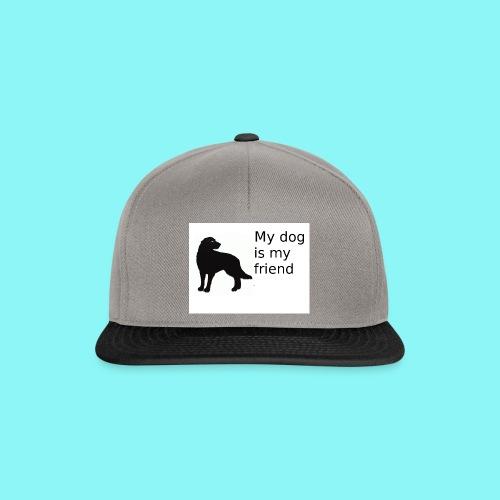 T-Shirt damski My dog is my friend - Czapka typu snapback