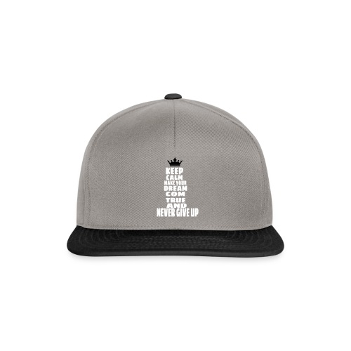 never_give_up - Snapback cap