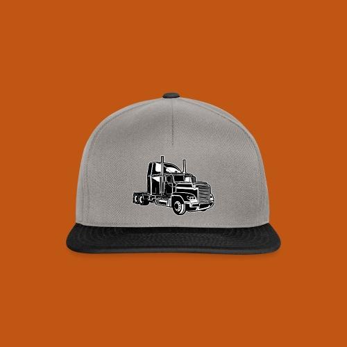 Truck / Lkw 02_schwarz weiß - Snapback Cap