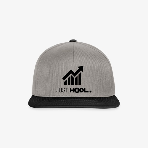 HODL-btc-just-black - Snapback Cap