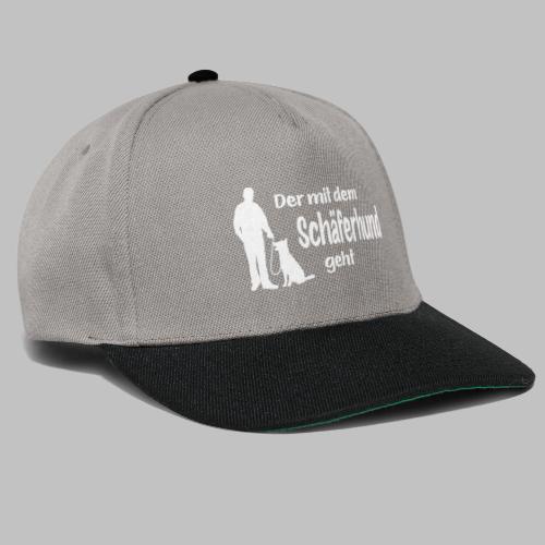 Der mit dem Schäferhund geht - White Edition - Snapback Cap