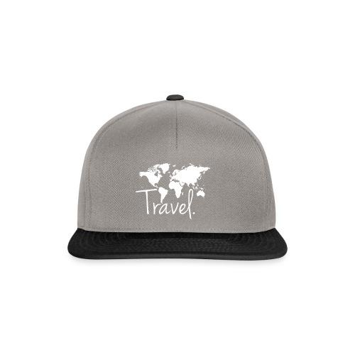 Travel. Weltkarte. - Snapback Cap