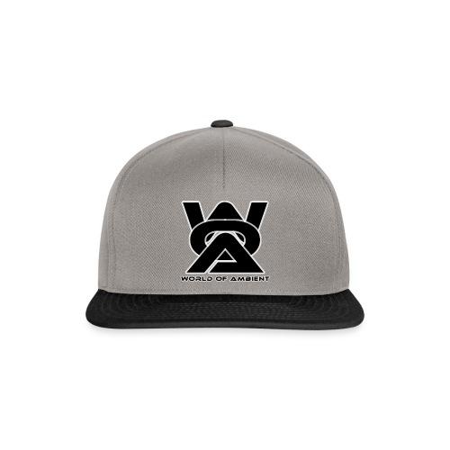 woa logo dikke rand - Snapback Cap