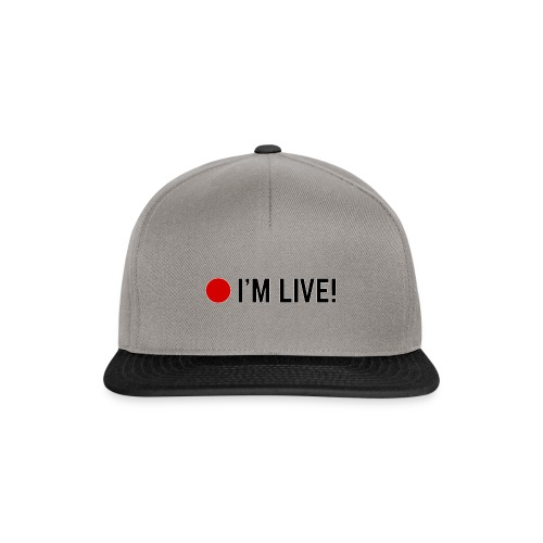 🔴 I'm Live! - Snapback cap