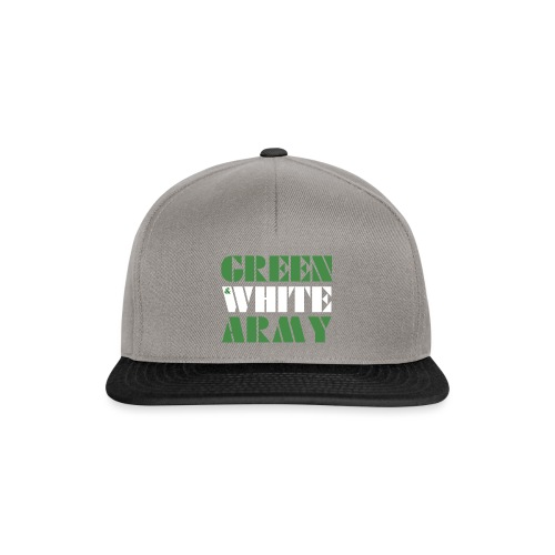 GREEN & WHITE ARMY - Snapback Cap