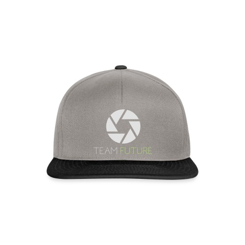 T-Shirt Shutter with Logo Text white and green - Snapbackkeps