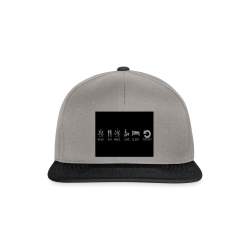 WEED. EAT. WEED. LOVE. SLEEP. REPEAT. - Snapback Cap