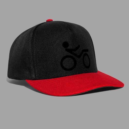Recumbent bike black 2 - Snapback Cap