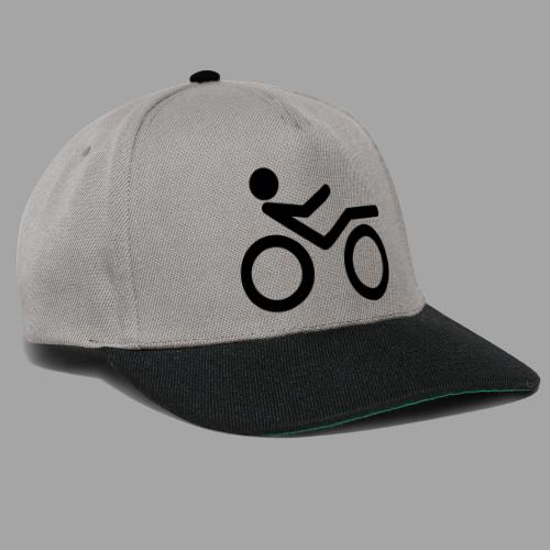 Recumbent bike black 2 - Snapback Cap