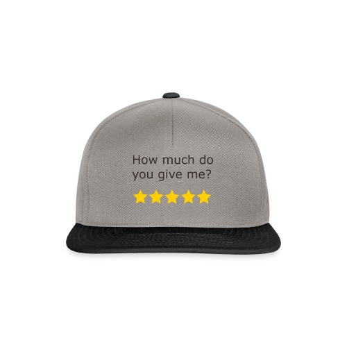 How much do you give me? - Casquette snapback