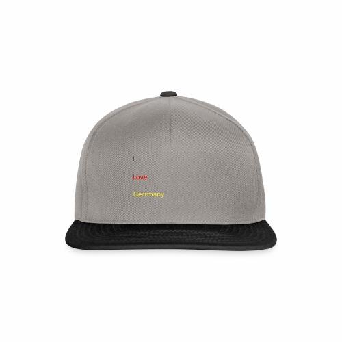 deutschland germany liebe love ich ego farbe - Snapback Cap