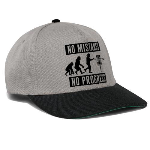 Disc golf - No mistakes, no progress - Black - Snapback Cap