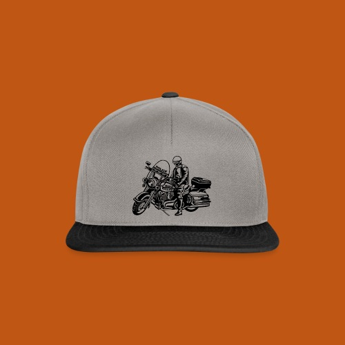 Motorradpolizei / Motorcycle Police 01_schwarz - Snapback Cap
