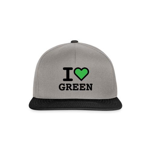 i-love-green-2.png - Snapback Cap